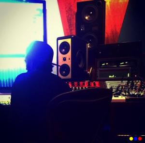 Marco Mengoni in studio. Fonte: profilo Facebook