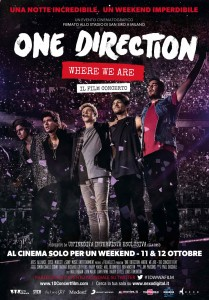 "Locandina di ""One Direction: Where We Are - Il film concerto"""