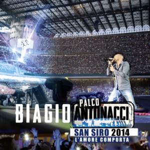 """Biagio Antonacci, cover del cofanetto """"Palco Antonacci San Siro 2014 - L'amore comporta"""""""