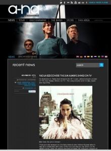 L'EP di Paola Iezzi nella sezione news del sito degli A-ha