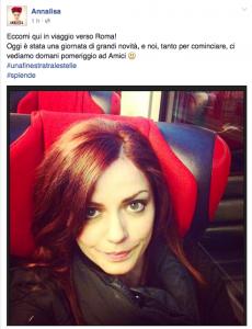 """Annalisa annuncia su Facebook la propria presenza ad """"Amici"""""""