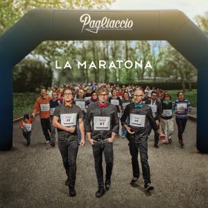 """Pagliaccio, cover dell'album """"La maratona"""""""