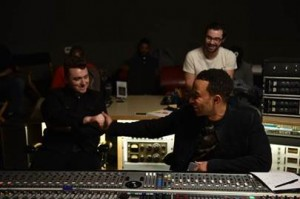Sam Smith in studio con John Legend