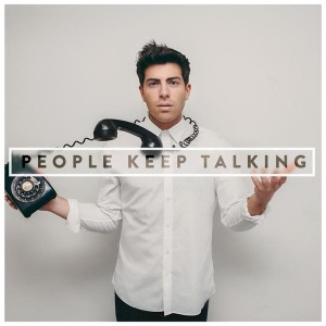 "Hoodie Allen, cover dell'album ""People Keep Talking"""