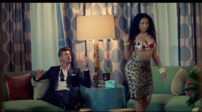 "Robin Thicke e Nicki Minaj insieme per ""Back Together"""