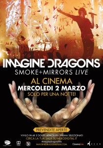Imagine Dragons evento al cinema