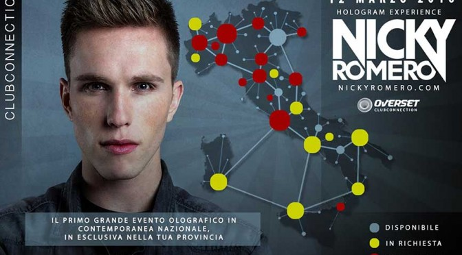 Nicky Romero: concerto olografico in 30 club italiani