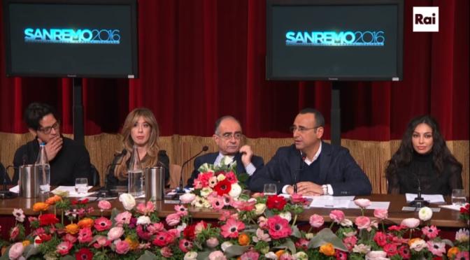 Sanremo 2016: diretta della conferenza stampa