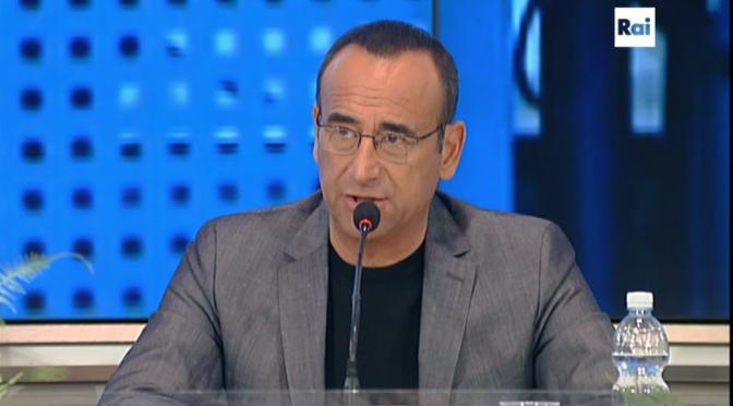 Carlo Conti 12 febbraio conferenza stampa