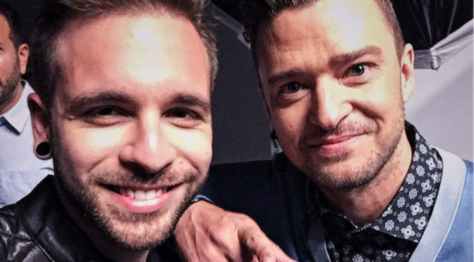 "Alessio Bernabei a L.A. con Justin Timberlake per il film ""Trolls"""