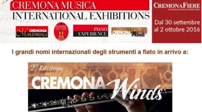 Cremona Music International Exhibitions 2016 30 settembre – 2 ottobre