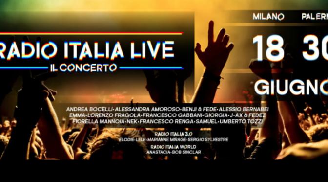 Radio Italia Live: il cast definitivo dei due concerti a Milano e Palermo