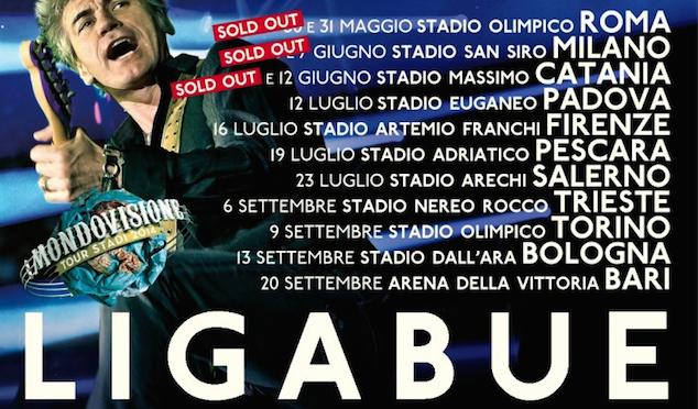 Ligabue: dal 30 maggio il tour negli stadi. Il Cile e Paolo Simoni tra gli opening act