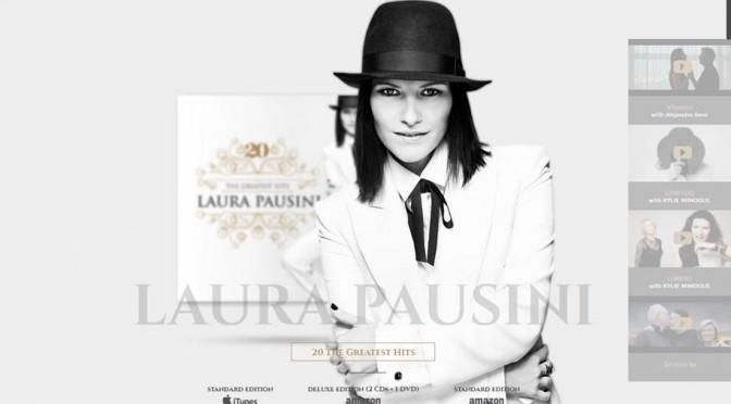 Laura Pausini, nuovi premi anche per il suo sito ufficiale