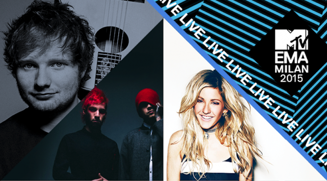 MTV EMA 2015: Ellie Goulding, Ed Sheeran, Jason Derulo tra i performer