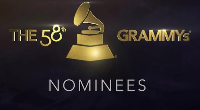 Grammy 2016: le nomination