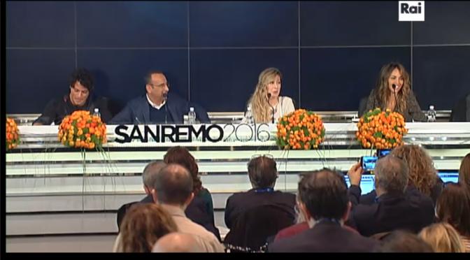 Sanremo 2016: conferenza della vigilia