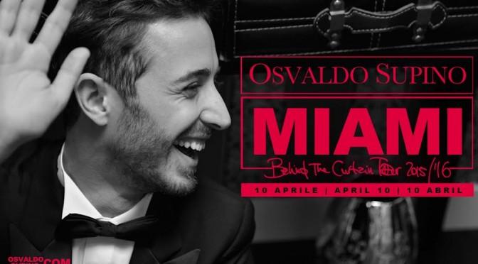 Osvaldo Supino negli USA: il 10 aprile live a Miami