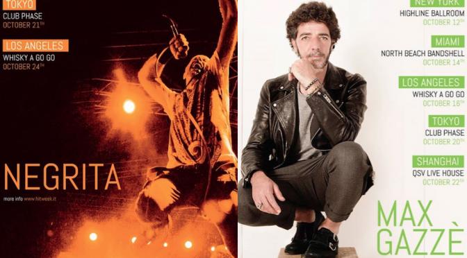 Hit Week 2016: Negrita e Gazzè protagonisti a ottobre