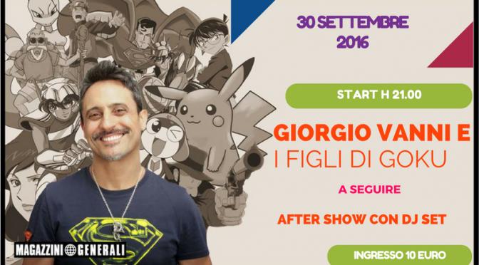 Giorgio Vanni live ai Magazzini il 30 settembre
